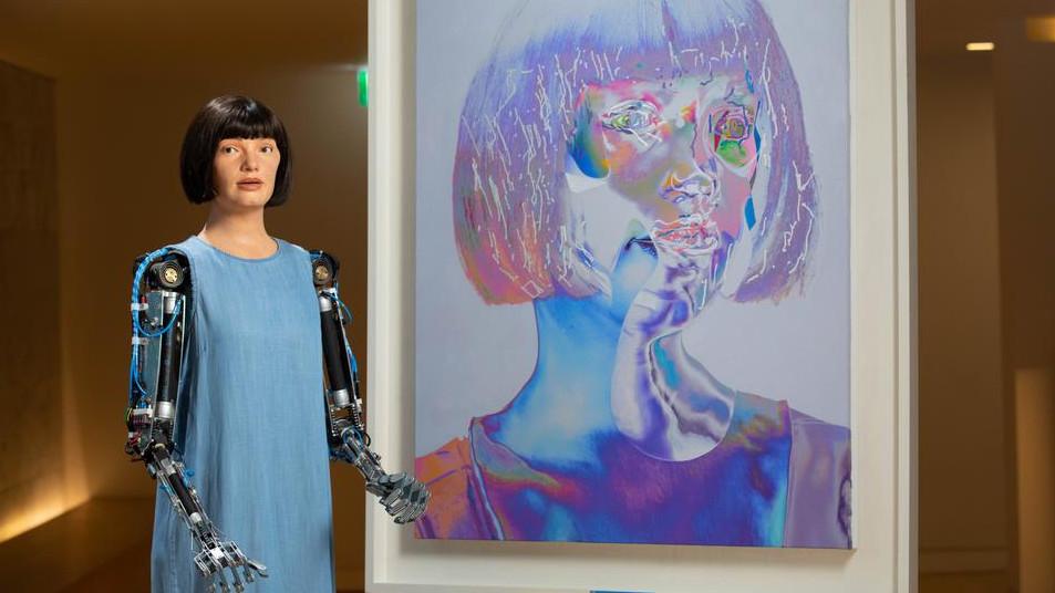 Изложба от автопортрети – дело на робот-андроид, беше представена в Лондон